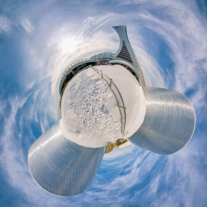 planetarium planet Olympic stadium Montreal stade tour olympique parc panoramic photography virtual reality tour