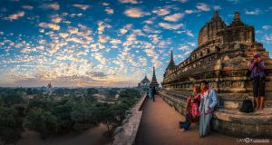 Balloons over Bagan Myanmar Burma panoramic photography virtual reality tour