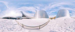Planetarium Olympic stadium Montreal stade tour olympique parc panoramic photography virtual reality tour