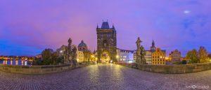 Charles Bridge City Praha Prague Czech Republic panoramic photography
