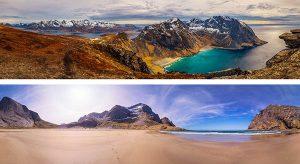 Lofoten Islands beaches Norway panoramic photography virtual reality tour