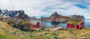 Reine fishing village Lofoten Islands Norway panoramic photography virtual reality tour