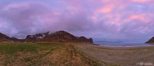 Unstad surf surfing beach waves Lofoten Islands Norway panoramic photography virtual reality tour