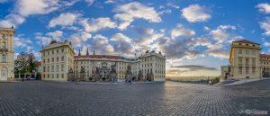 Prague Castle main entrance gate virtual reality tour