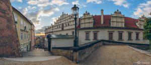 Prague Castle Stairs from Mala Strana Czech Republic panoramic photography