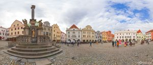 Historic Center Svornoski Square in Cesky Krumlov in Czech Republic Virtual Reality Tour by Jean-Pierre Lavoie