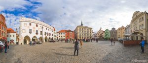 Svornoski Square in Cesky Krumlov in Czech Republic Virtual Reality Tour by Jean-Pierre Lavoie