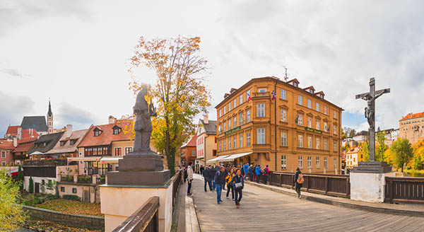 Barber's Bridge in Cesky Krumlov in Czech Republic Virtual Reality Tour by Jean-Pierre Lavoie